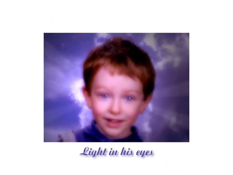 Light in his eyes
