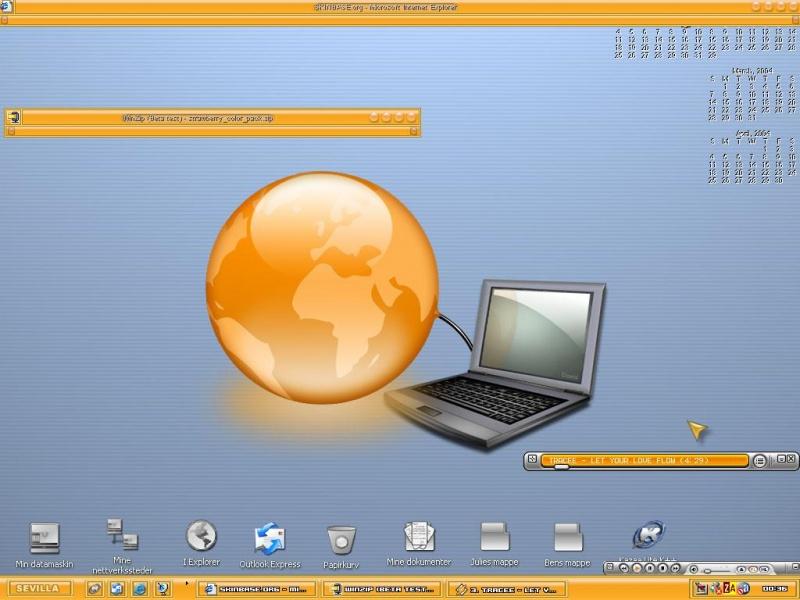 Orange Net Aqua