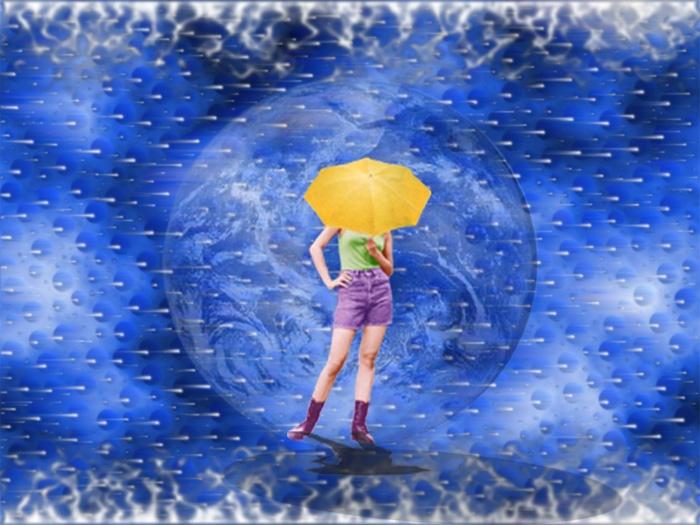 Girl in sky
