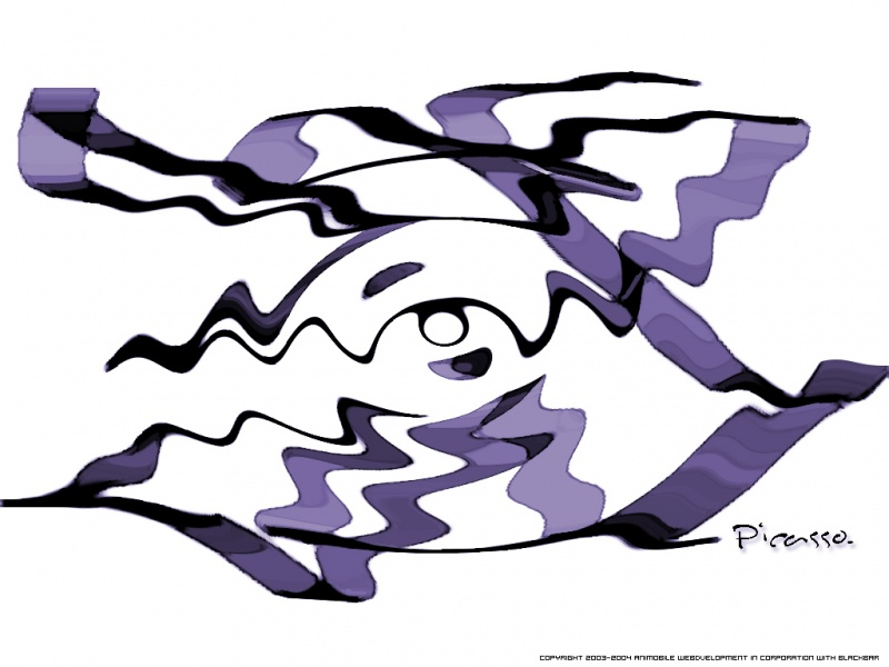 Purple Picasso In Motion_