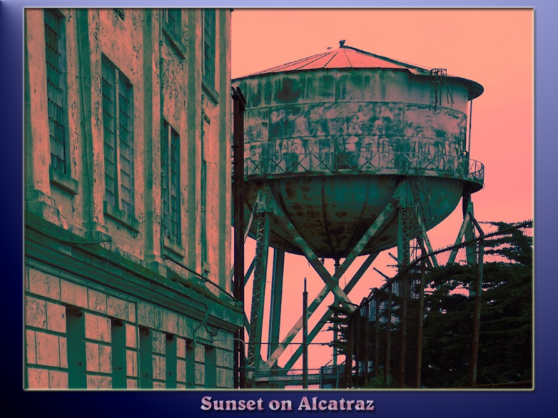 Sunset on Alcatraz