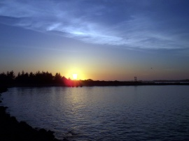 An Oregon Bay at Sunset
