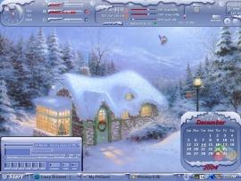 Wintery Home Xmas.