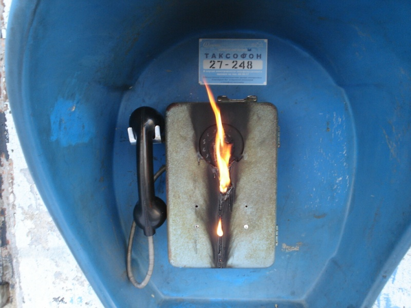Burning phone