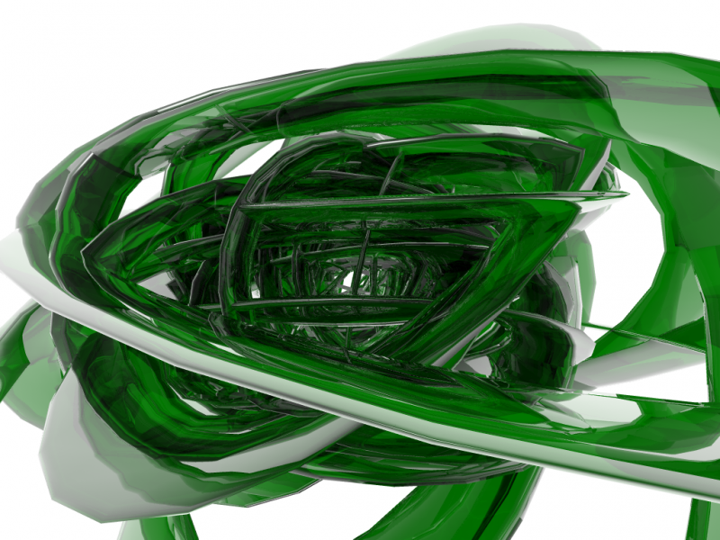 Green Ribbon Spiral