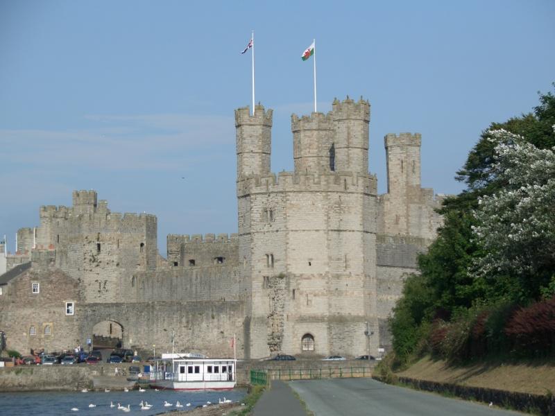 Outside Caernarfon Castle, Wales
