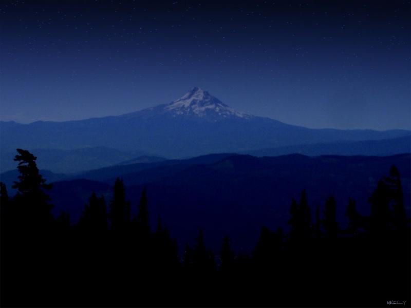 Twilight on Mt.Hood