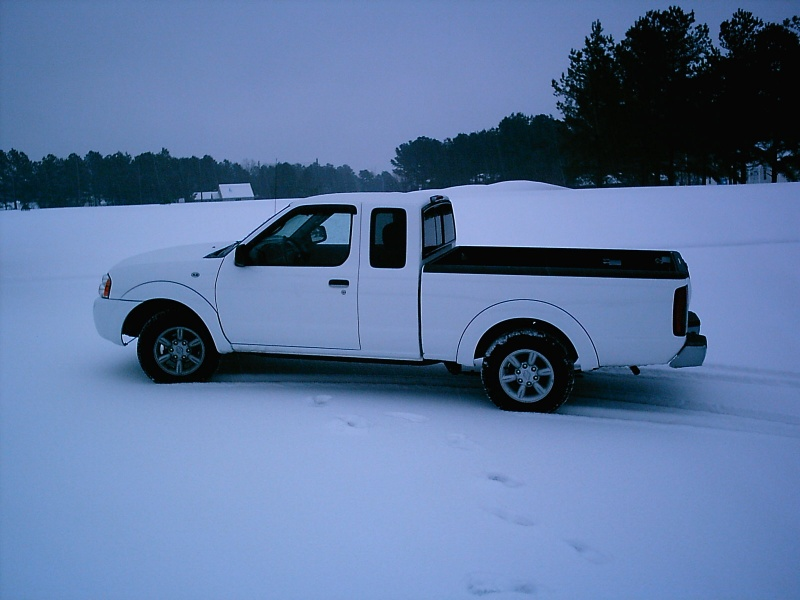 White Truck in White Snow