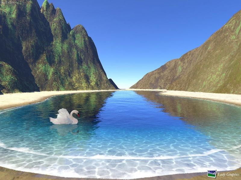 Island and Pretty Swan