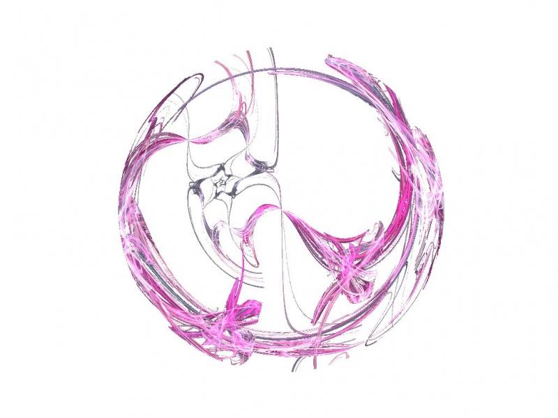 A pink round flower