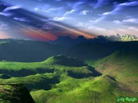 Blue sky over mountains