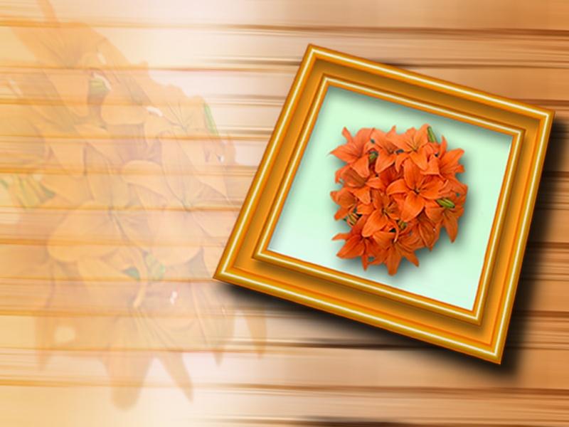 flower frame !!