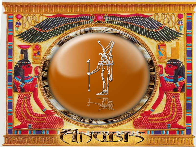Egyptian god of the dead Anubis in color