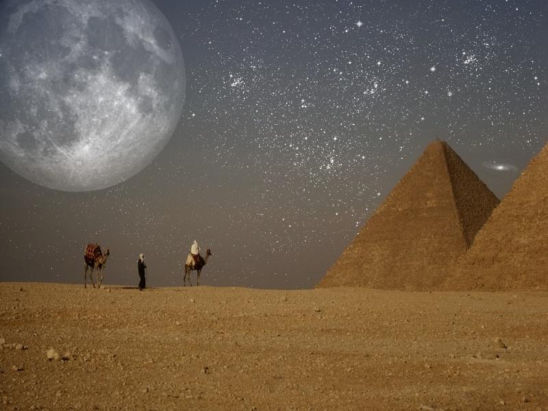 moon over egypt