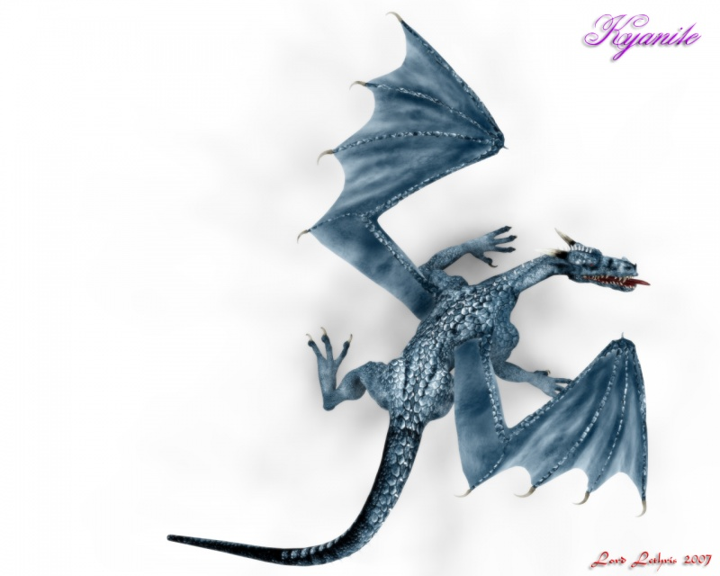 Kyanite Dragon Art 1.0