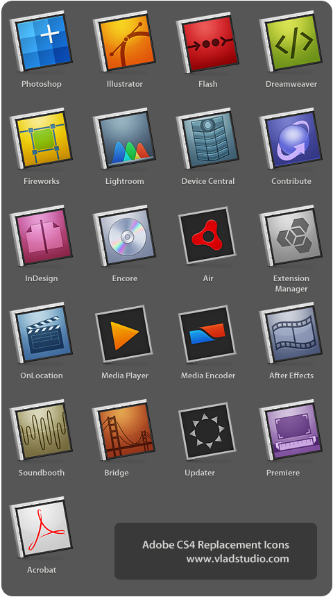Adobe CS4 Replacement Icons