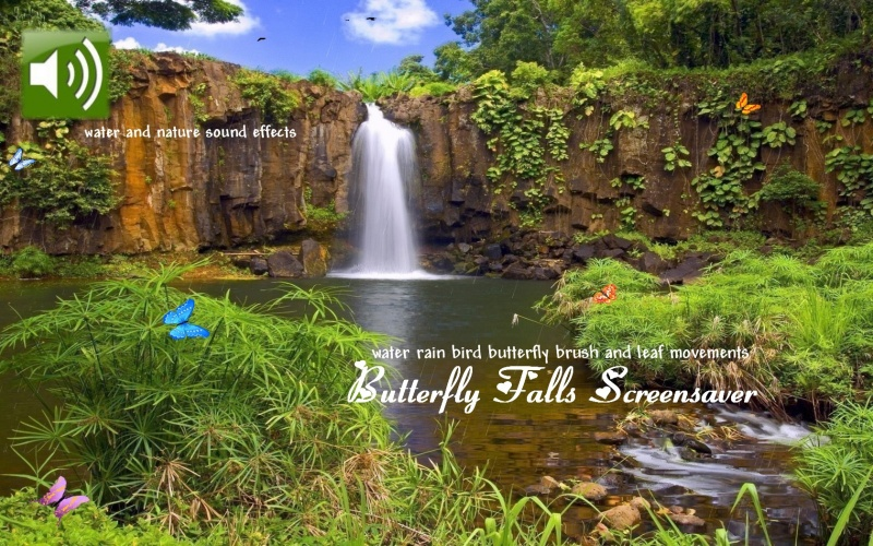 Butterfly Falls Screensaver