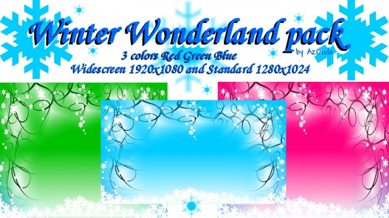 Winter Wonderland  3 colors pk