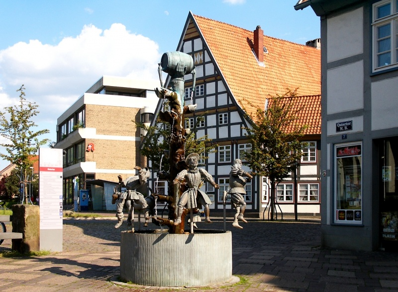 Chancellor-Fountain in Lemgo/Germany