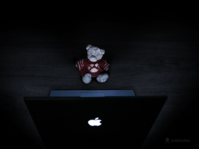 Teddy Bear and MacBook