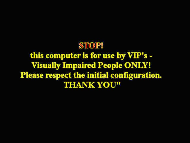 STOP logon for VIP