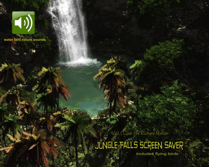 Jungle Falls ScSv wall by richard mohler