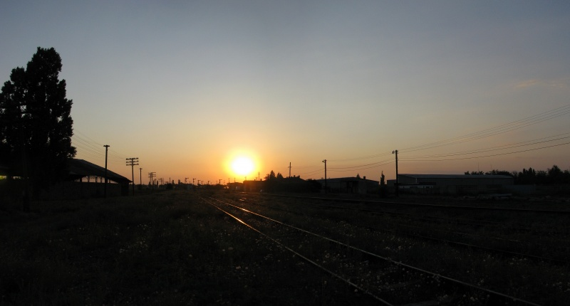 Sunset Over Railways