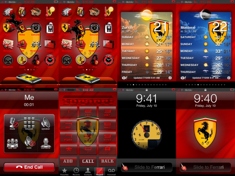 Ferrari iPhone Theme