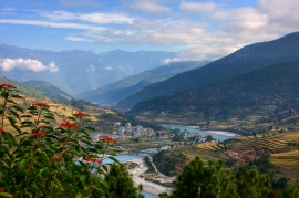 Post Card View from Bhutan