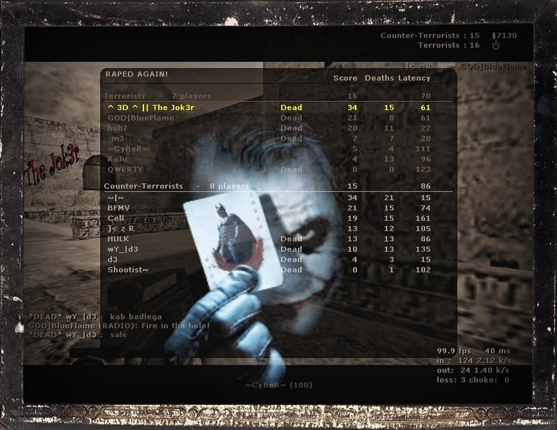 Cs 1.6 Score Screenshot