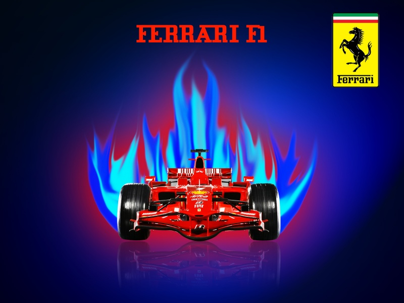 FERRARI ON FIRE