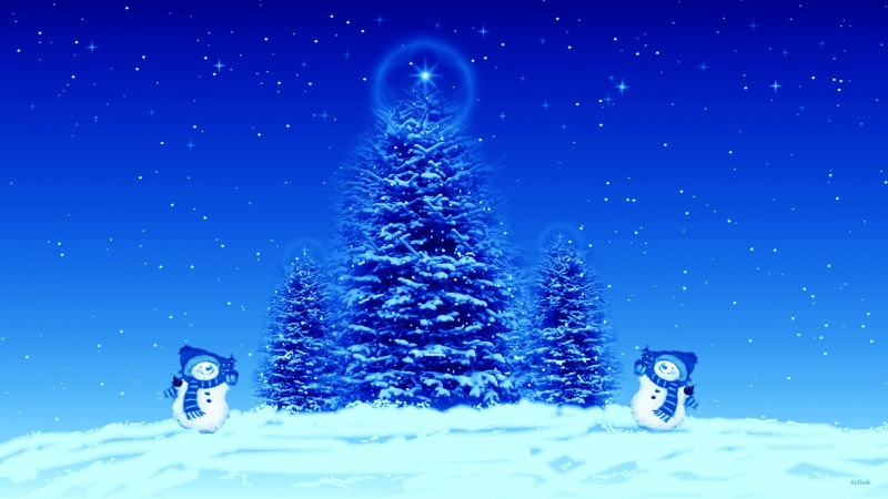 Blue Christmas Screen Saver