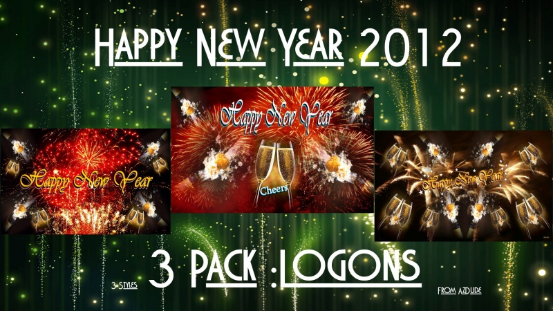 Happy New Year Logons 3pk