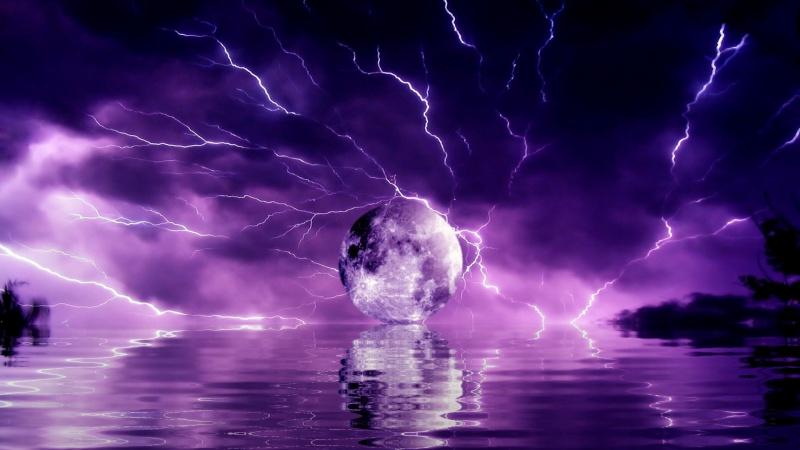 Reflections 5 Purple Storm Screen Saver