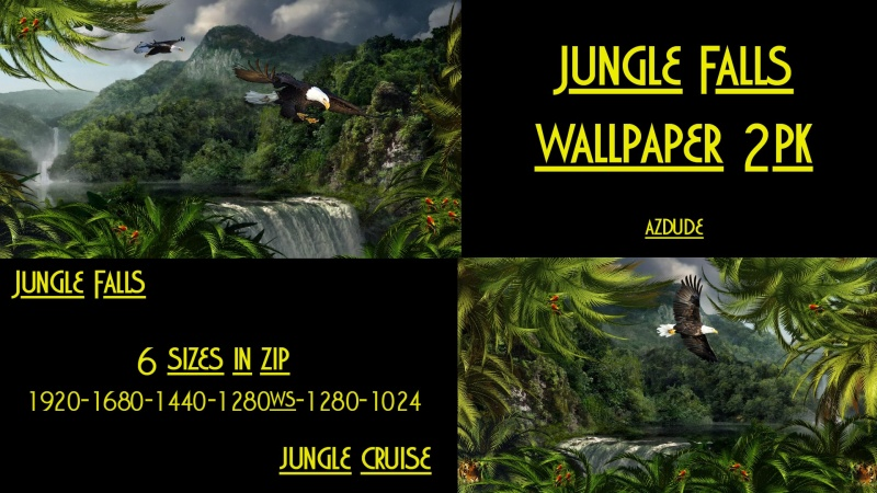 Jungle Falls Wall 2 pk
