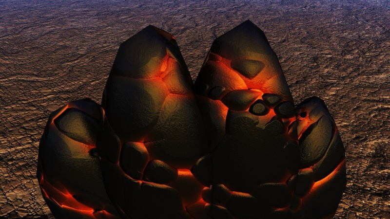 Flaming Lava Rocks Screensaver