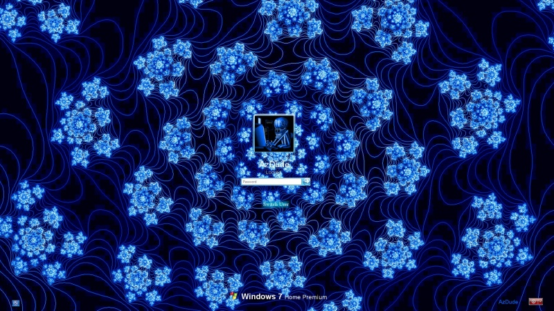 Blue Flowers Logon
