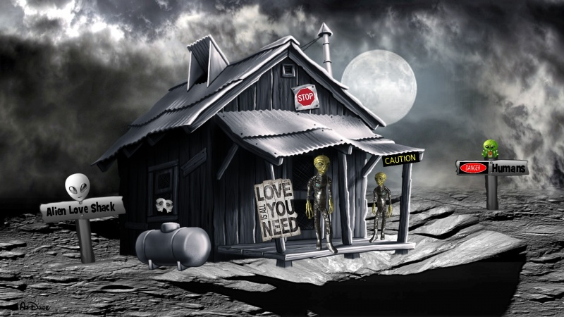 Alien Love Shack Logon