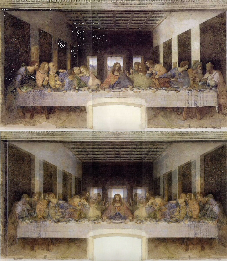 The last Supper Mirrored