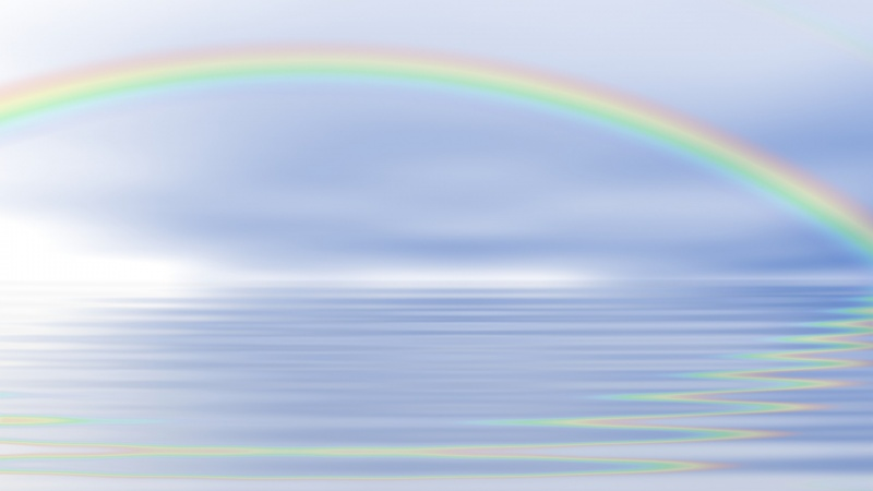 Rainbow Ocean Reflection