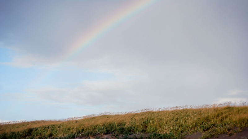 Rainbow on the Dunes