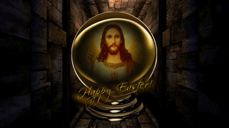 Happy Easter Jesus Globe 2 pk