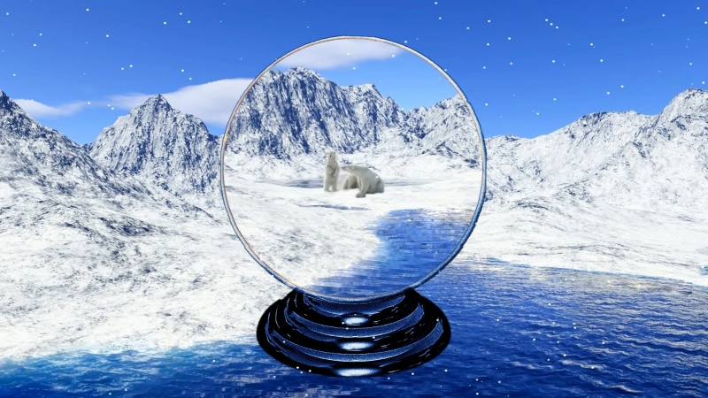 Polar Bear Snow Globe Preview
