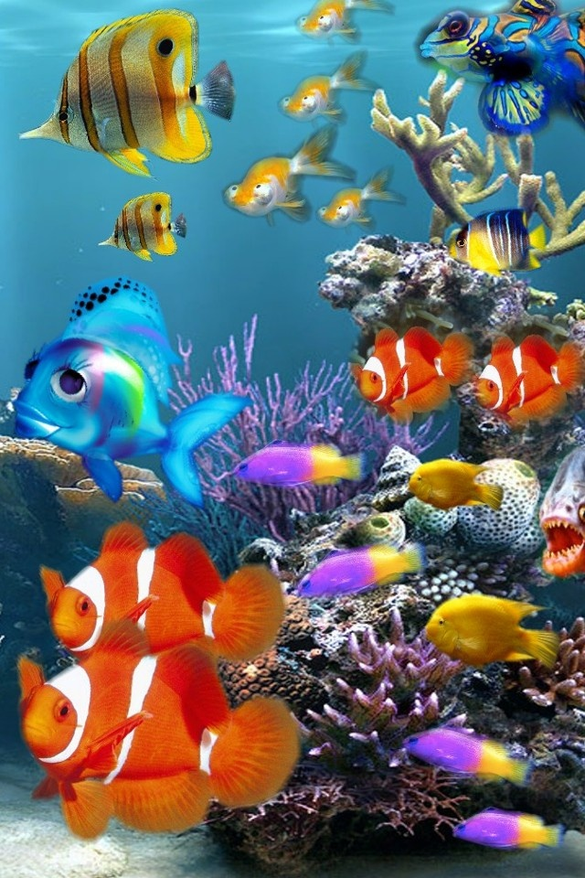 Aquarium Colors iPhone 640x960