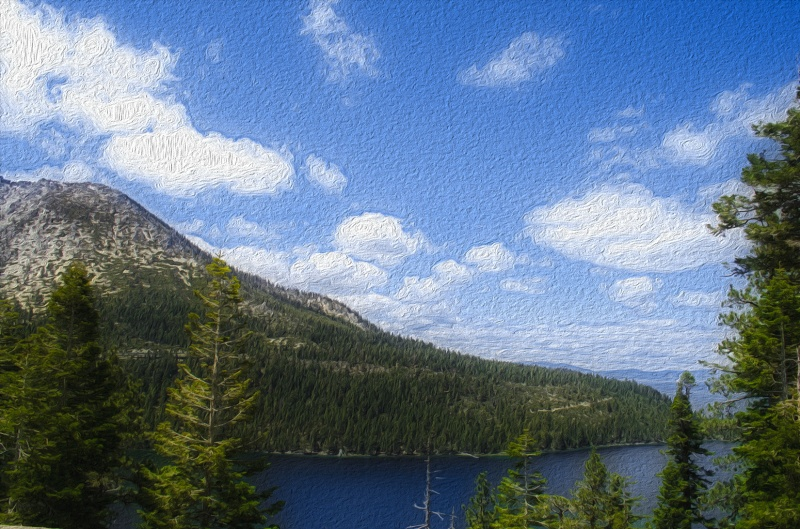 Emerald Bay in Oil