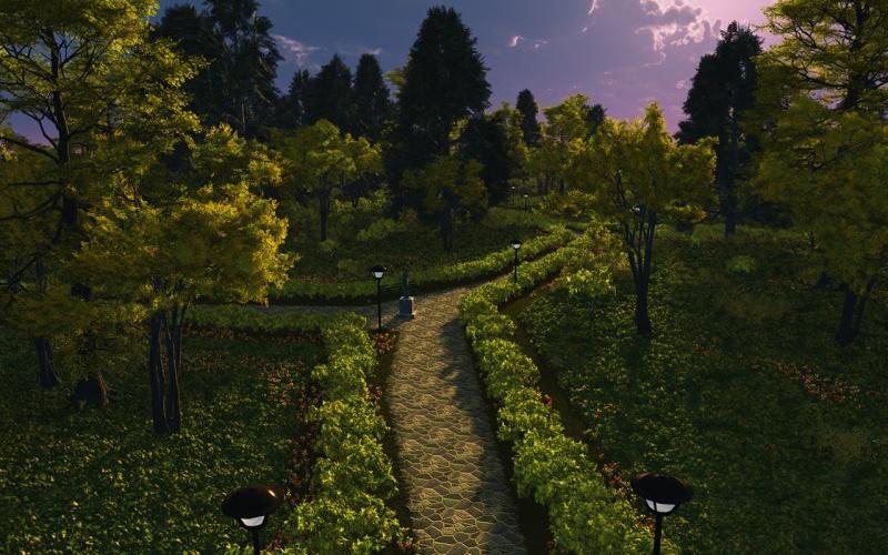 Cobblestone garden