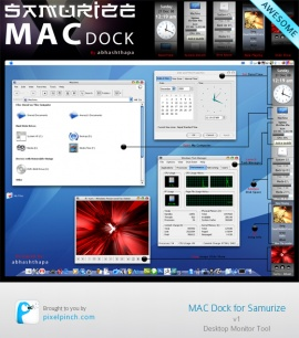 Samurize Mac Dock (side bar) v1