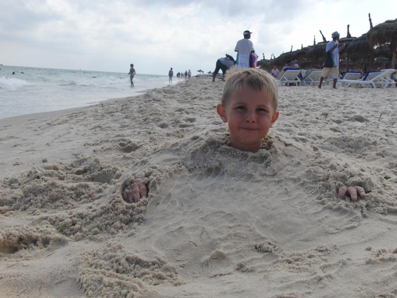 Lan in sand