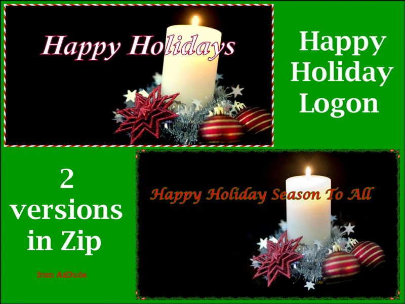 Happy Holiday Logon ( Screen )