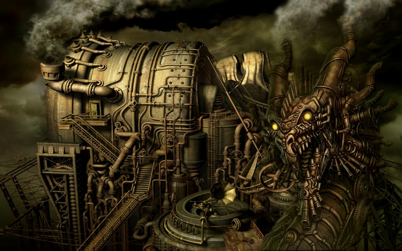 Steam Punk Dragon_Industry_wallpak